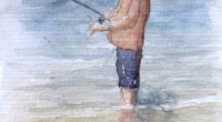 Aquarelle-pecheur-profil
