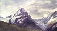 aquarelle-aiguille-chardonnet-glacier-argentiere