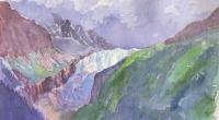 aquarelle-glacier-argentière