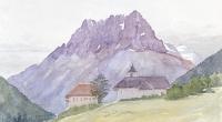 aquarell-vallorcine-eglise-4