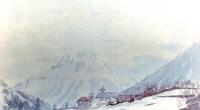 aquarelle-vallorcine-eglise-2