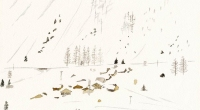 aquarelle-vallorcine-hameau-neige-1