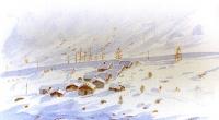 aquarelle-vallorcine-hameau-neige-2-