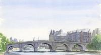 Aquarelle-Pont-Neuf-Paris-2