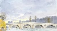Aquarelle-Pont-Royal-Paris