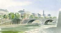 Aquarelle-Pont-au-Change