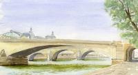 Aquarelle-Pont-du-Carrousel