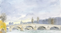 Aquarelle-Pont-Royal-Paris