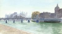 Aquarelle-Pont-des-Arts