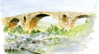 Aquarelle-Pont-Julien