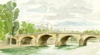 Aquarelle-Pont-Marie