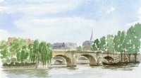 Aquarelle-Pont-Neuf-Paris-1