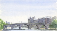Aquarelle-Pont-Neuf-Paris-2