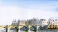 Aquarelle-Pont-Neuf-Paris-3
