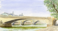 Aquarelle-Pont-Carrousel